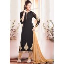 Designer Black Patch Work Georgette Salwar Suit - JOM28SK13315 ( Jom-666 )