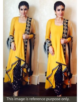 Ravina Bollywood Replica Yellow Embroidered Georgette Salwar Suit - JOM283BT22 ( Jom-666 )