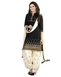 Party Wear Black Crepe Salwar Suit - 202