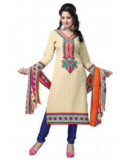 Casual Wear Multicolour Crepe Salwar Suit - 212