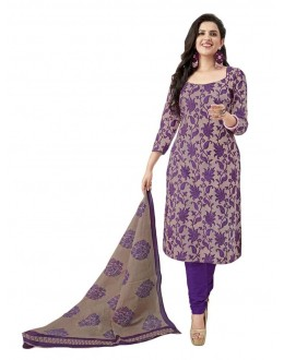 Casual Wear Grey Crepe Salwar Suit - 209