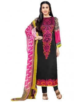 Party Wear Multicolour Crepe Salwar Suit - 208
