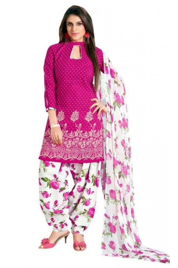Party Wear Pink Crepe Salwar Suit - 207