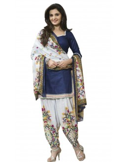 Casual Wear Blue Crepe Salwar Suit - 205