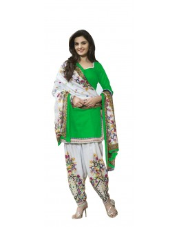 Casual Wear Green Crepe Salwar Suit - 204