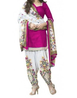Casual Wear Pink Crepe Salwar Suit - 203