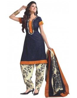 Party Wear Blue Crepe Salwar Suit - 230