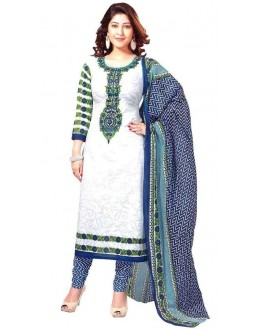 Party Wear Blue Crepe Salwar Suit - 221