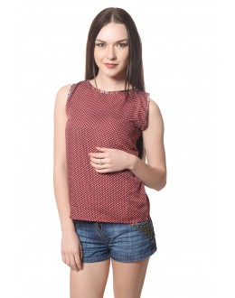 Stylish Brown Colour  Western Wear  Top  - TOP2022 -Brwn (KHG-Top101)