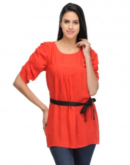 Stylish Red Colour  Western Wear  top - TOP2009_Rd(KHG-Top101)