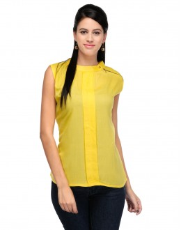 Yellow Colour Designer Western Wear Top  - TOP2018 - Yllw (KHG-Top101)