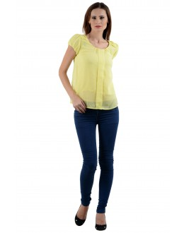Yellow Colour   Western Wear  Top  - TOP2031 - Ylw  ( KHG-Top101)