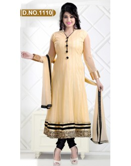 Bollywood Replica - Party Wear Beige Anarkali Suit   - 1110