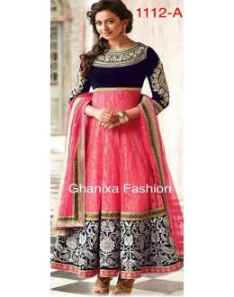 Bollywood Replica - Party Wear Pink Anarkali Suit   - 1112-A