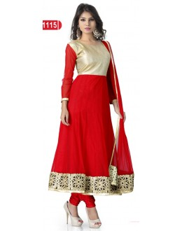 Bollywood Replica - Traditional Red Anarkali Suit   - 1115