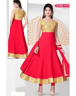 Bollywood Replica - Designer Red Anarkali Suit   - 1117