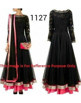 Bollywood Replica - Traditional Black Anarkali Suit   - 1127