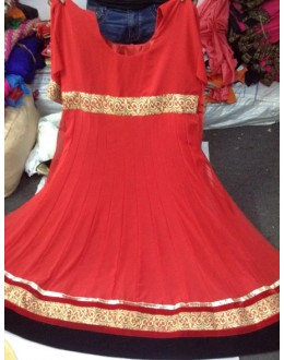 Bollywood Replica - Party Wear Red Anarkali Suit   - 1130