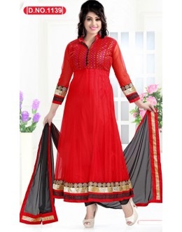 Bollywood Replica - Traditional Red Anarkali Suit   - 1139