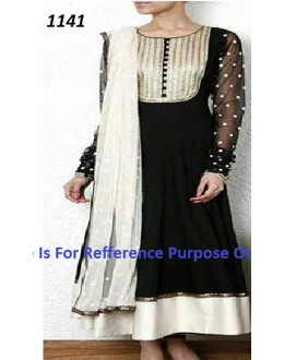 Bollywood Replica - Party Wear Black Anarkali Suit   - 1141
