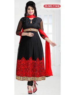 Bollywood Replica - Party Wear Black Anarkali Suit   - 1143