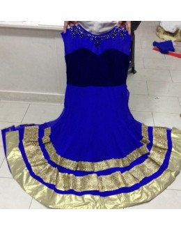 Bollywood Replica - Party Wear Blue Anarkali Suit   - 1148-C
