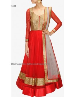 Bollywood Replica - Traditional Red Anarkali Suit   - 1156