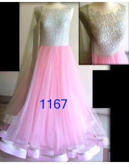 Bollywood Replica - Party Wear Pink Anarkali Suit   - 1167-B