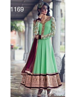 Bollywood Replica - Designer Turquiose Anarkali Suit   - 1169