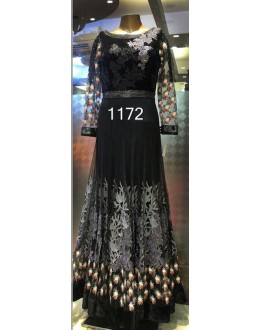 Bollywood Replica - Designer Black Anarkali Suit   - 1172
