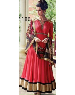 Bollywood Replica - Party Wear Red Anarkali Suit   - 1186
