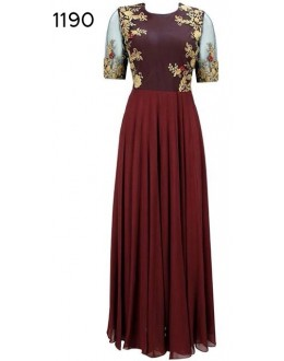 Bollywood Replica - Party Wear Maroon Anarkali Suit   - 1190