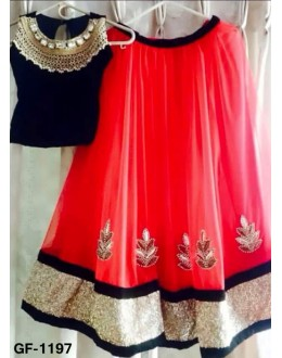 Bollywood Replica - Designer Peach Lehenga Choli -  1197