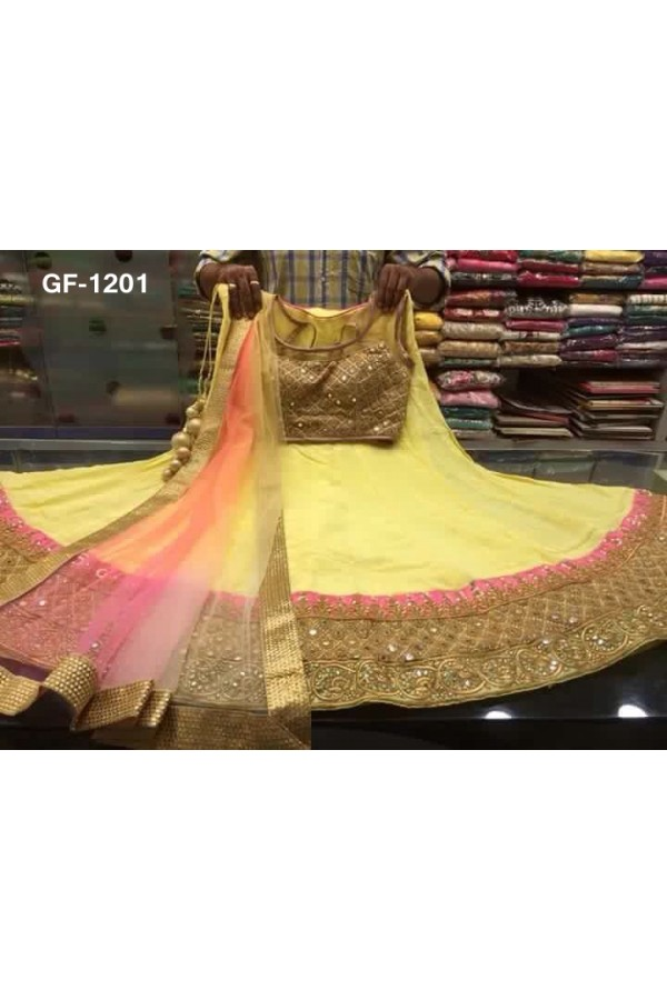 Bollywood Replica - Designer Yellow Lehenga Choli -  1201