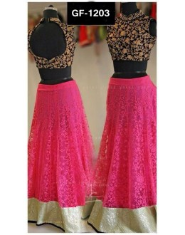 Bollywood Replica - Designer Pink Lehenga Choli -  1203