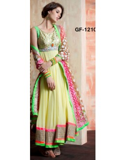 Bollywood Replica - Designer Multicolour Anarkali Suit   - 1210