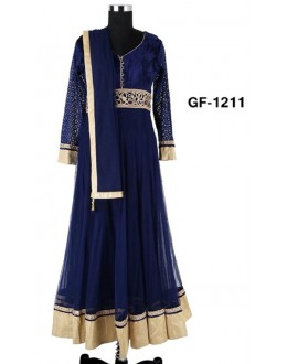 Bollywood Replica - Designer Blue Anarkali Suit   - 1211