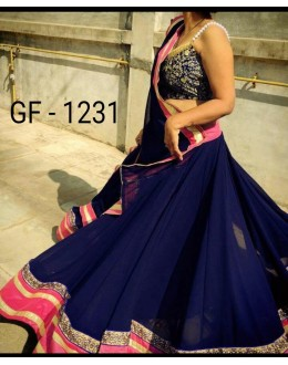Bollywood Replica - Designer Blue Lehenga Choli -  1231