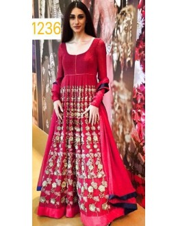 Bollywood Replica - Designer Red Anarkali Suit   - 1236