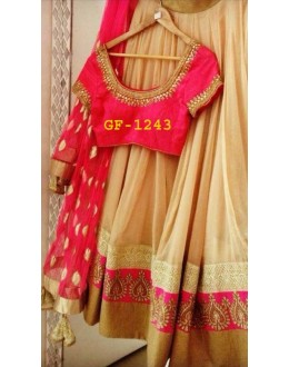 Bollywood Replica - Designer Beige Lehenga Choli -  1243