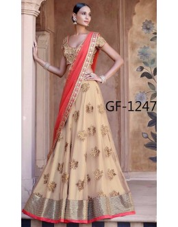 Bollywood Replica - Designer Beige Lehenga Choli -  1247