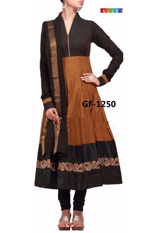 Bollywood Replica - Designer Brown Anarkali Suit   - 1250