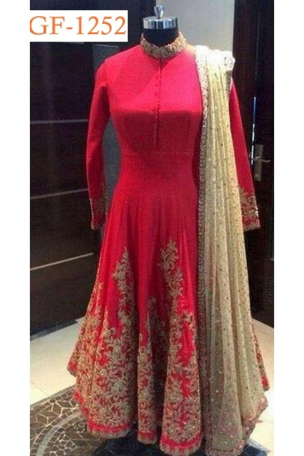 Bollywood Replica - Designer Red Anarkali Suit   - 1252