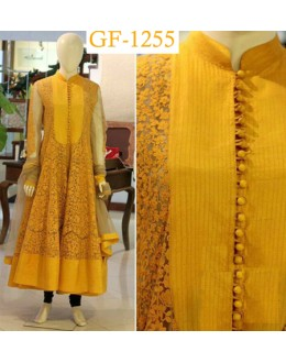 Bollywood Replica - Designer Yellow Anarkali Suit   - 1255