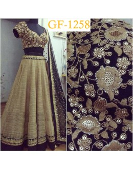 Bollywood Replica - Designer Beige Lehenga Choli -  1258