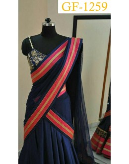 Bollywood Replica - Designer Blue Lehenga Choli -  1259