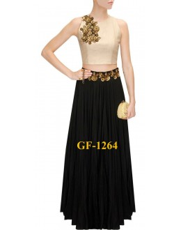 Bollywood Replica - Fancy Beige Lehenga Choli -  1264