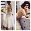 Bollywood Replica-Prachi Desai Designer White & Yellow Fancy Worked Lehenga Choli - 7190