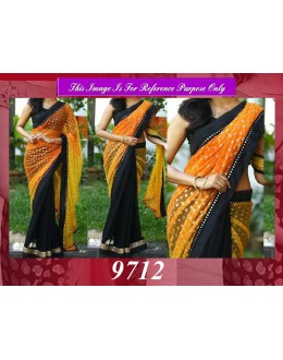 Bollywood Replica - Wedding Wear Shaded Yellow & Black Saree - 9712