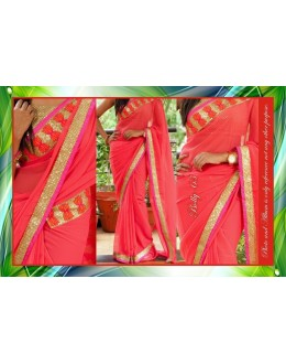 Bollywood Replica-Designer Gorgeous Pink Party Wear Saree-65 ( MJ-Bolly-65 )